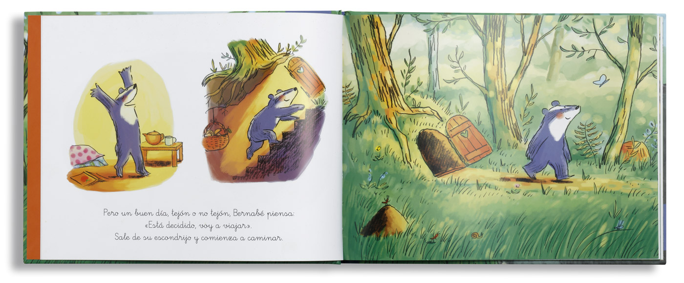 Interior libro, Bernabé viaja al fin del mundo