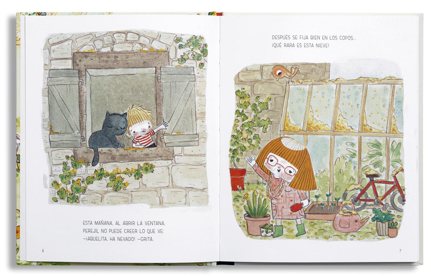 Interior libro El jardín de Perejil