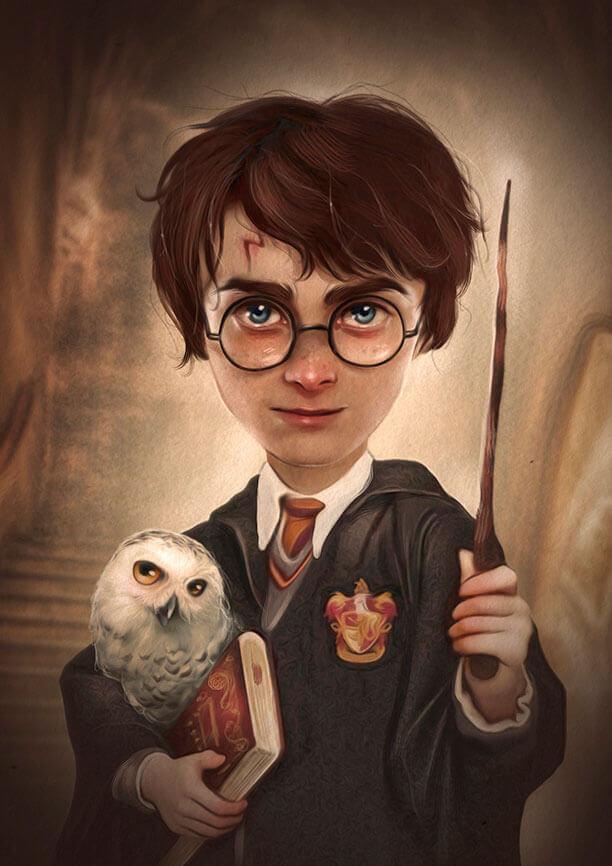 Harry Potter. Ilustración de Antonio Lorente