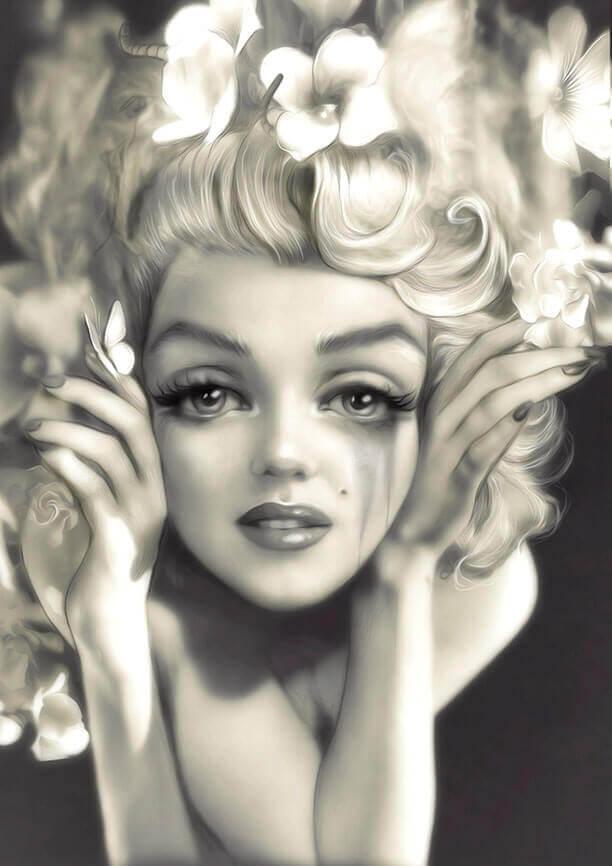 Marylin. Ilustración de Antonio Lorente