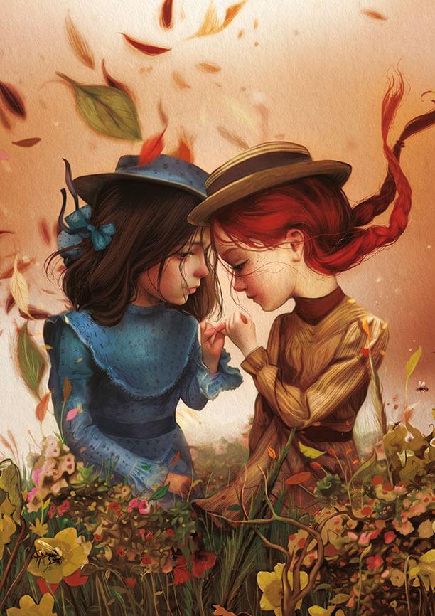 Ana la de Tejas Verdes. Ilustración de Antonio Lorente
