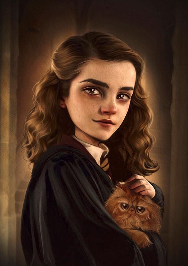Hermione. Ilustración de Antonio Lorente